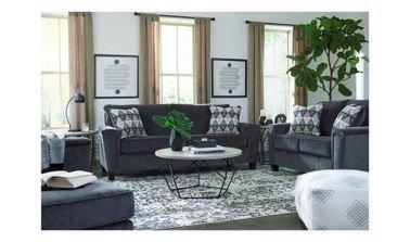 Abinger Sofa Set, 7 Seats, Polyester, Dark Gray