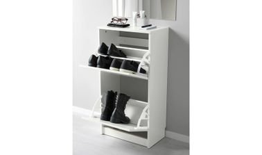 Bissa Shoe Cabinet from IKEA, Two Compartments, White