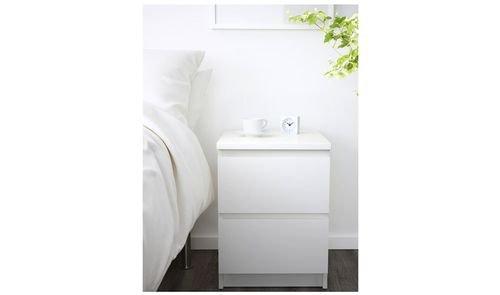 خزانة مالم جانبية من أيكيا، درجين، لون أبيض