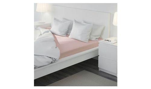 شرشف سرير دالفا أيكيا بمطاط، 200x180 سم، زهري فاتح