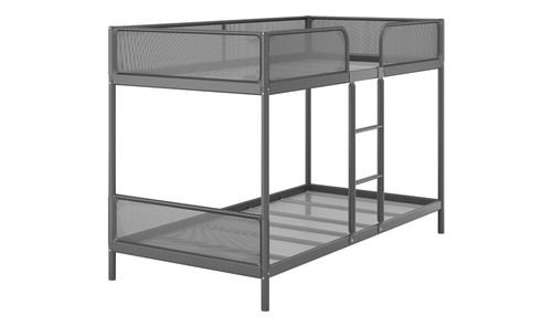 إطار سرير أطفال تافينغ بطابقين من أيكيا، فولاذ، رمادي غامق