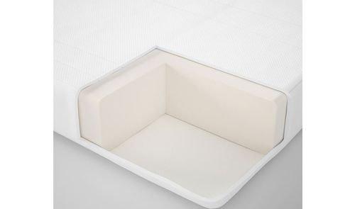 مرتبة إسنفجية NATTSMYG للأطفال من أيكيا، لسرير قابل للتمديد، أبيض