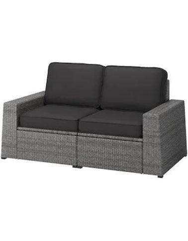 IKEA outdoor 2Seat Sofa Unit, Water Resistant, Dark Gray