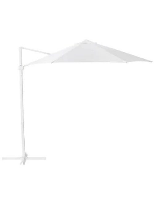 مظلة شمسية من إيكيا معلقة، قابلة للغسل، أبيض