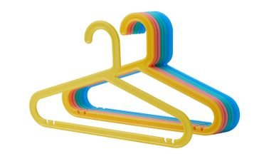 BAGIS Children's Clothes Hangers from IKEA, 8 Pack, Mixed Colors