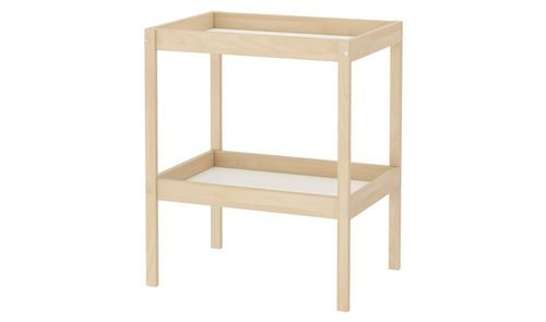 طاولة تغيير سنيغلار للأطفال من أيكيا، 72x53 سم، زان/ أبيض
