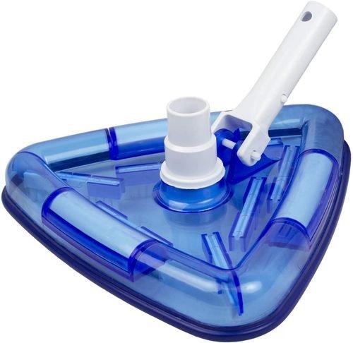 مكنسة مسبح مثلثية ببطانة شفافة من بول ماستر، تنظيف أرض المسبح أو سطحه، توصيل مع مكنسة كهربائية