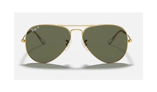 نظارات شمسية راي بان أفياتور كلاسيك، للجنسين، إطار ذهبي، عدسات خضر