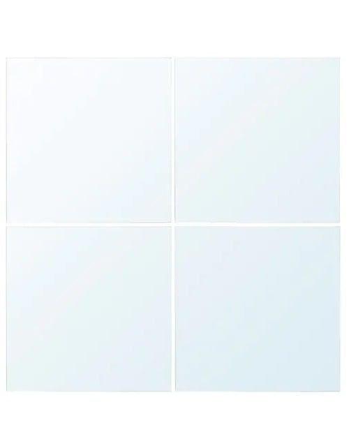 مرايا لوتس مربعة أربع قطع زجاجية للحائط من إيكيا، 30×30 سم