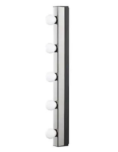 Ikea Musik wall lamp, chrome plated, internal wired