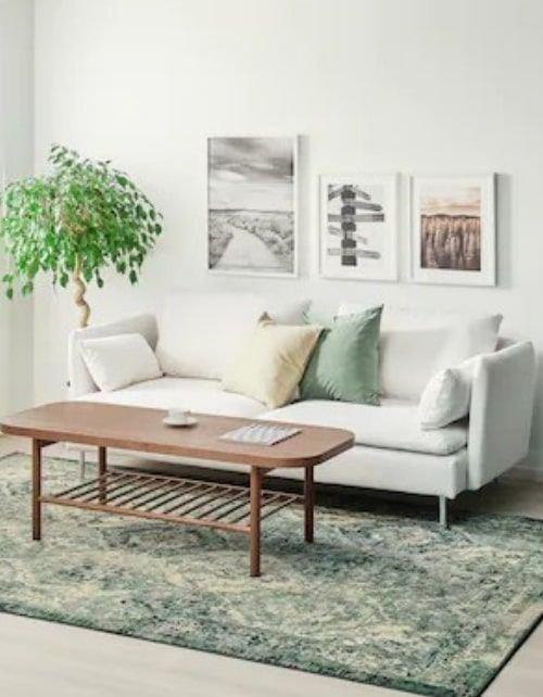سجادة وبر قصير من إيكيا، 300×200 سم، أخضر