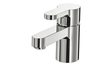 Wash-Basin Mixer Tap with Strainer from IKEA, Brass, Chrome-Plated