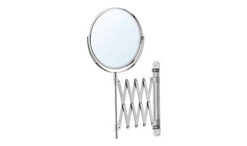 مرآة حمام FRACK من أيكيا، جهة مكبرة، ستينلس ستيل