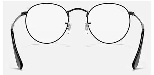 إطار نظارة طبية راي بان RX3447V، دائري، معدن، لون أسود
