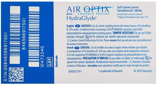 عدسات لاصقة طبية آير أوبتكس، 6 قطع، شهرية، شفافة