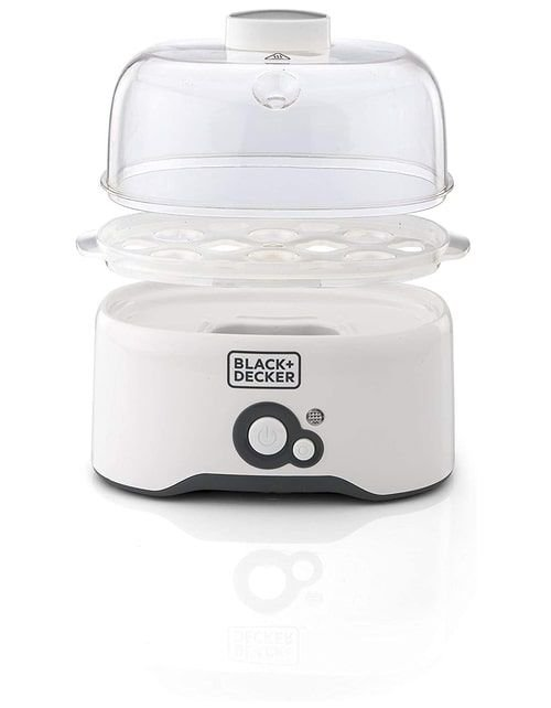 جهاز سلق البيض من بلاك أند ديكير، 280 واط، سعة 7 بيضات، أبيض