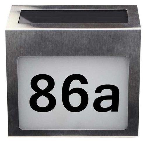 لافتة إلكترونية مضيئة Decdeal على صندوق البريد، تعمل بالطاقة الشمسية