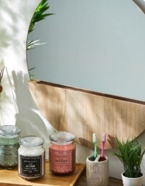 شمعة عطرية برطمان ألبا ألتير من هوم بوكس، رائحة كريما الفانيليا، 100 مل