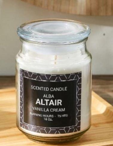 Home Box Alba Altair Jar Scent Candle, Vanilla Cream Scent, 100ml