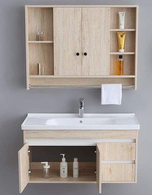 طقم حمام من HIZLJJ، ثلاث قطع، لون بني