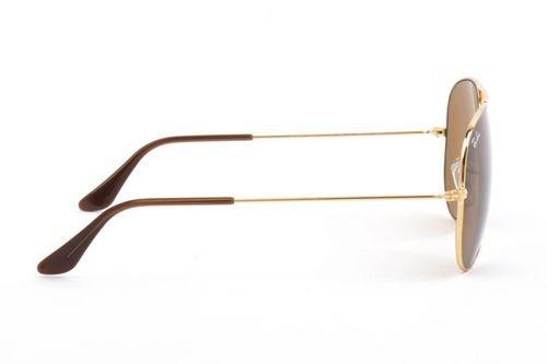 نظارات شمسية راي بان أفياتور كلاسيك، للجنسين، إطار ذهبي، عدسات بنية