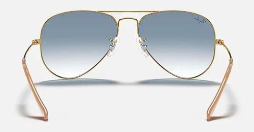 نظارة شمسية راي بان أفياتور جرادينت، إطار ذهبي، عدسات أزرق فاتح