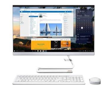كمبيوتر مكتبي لينوفو آيديا سينتر 3، شاشة لمس 23.8 بوصة، كور آي 5، رام 8GB، تخزين 1TB، أبيض