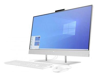 كمبيوتر الكل في واحد من اتش بي، شاشة لمس 27 بوصة، كور آي 7، رام 8GB، تخزين 256GB، فضي