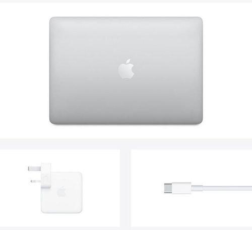آبل ماك بوك برو 2020، 13.3 بوصة، معالج M1، رام 8GB، تخزين 512GB، فضي
