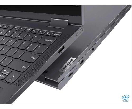 نوت بوك لينوفو يوجا 7i ، شاشة لمس 14 بوصة، كور آي 7، رام 12GB، تخزين 512GB، رمادي غامق