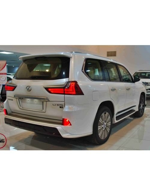 سيارة لكزس LX 570 2021 جديدة، دفع رباعي، أوتوماتيك، لون أبيض