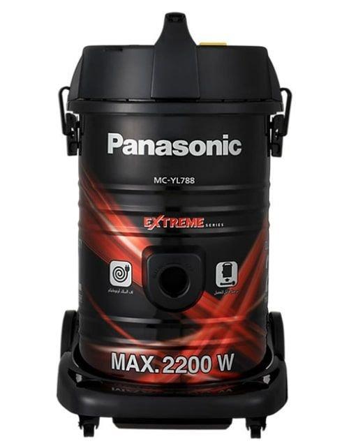 مكنسة كهربائية باناسونيك برميل 21 لتر بقوة 2200 واط، لون أحمر وأسود