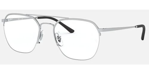 إطار نظارات طبية راي بان RB6444، مربع، معدن، إطار فضي