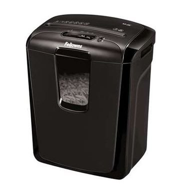 Fellowes Powershred M-8C, Cut Staples, Credit Cards, and Paper Clips, Black