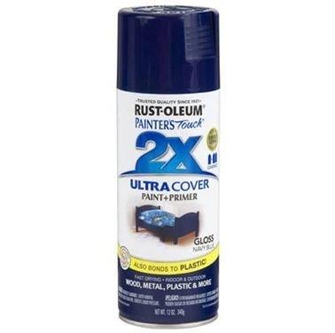 Rust-Oleum 2X Paint Spray, Gloss Blue, 340g