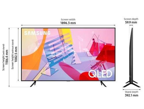 تلفزيون سامسونج سمارت كيو ليد، شاشة 85 بوصة، 4K، طراز Q60T