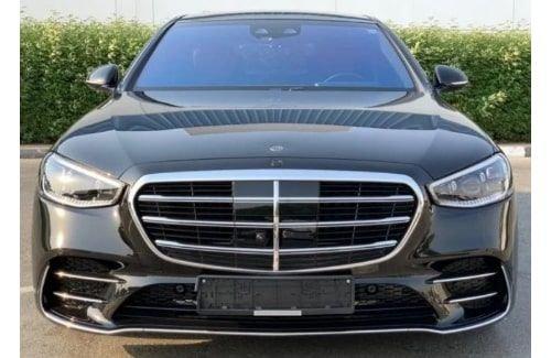 سيارة مرسيدس بنز اس 500 سيدان 2021 جديدة، دفع رباعي، لون أسود