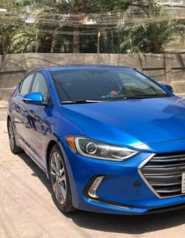Hyundai Elantra 2017 for monthly rent, Automatic, Blue