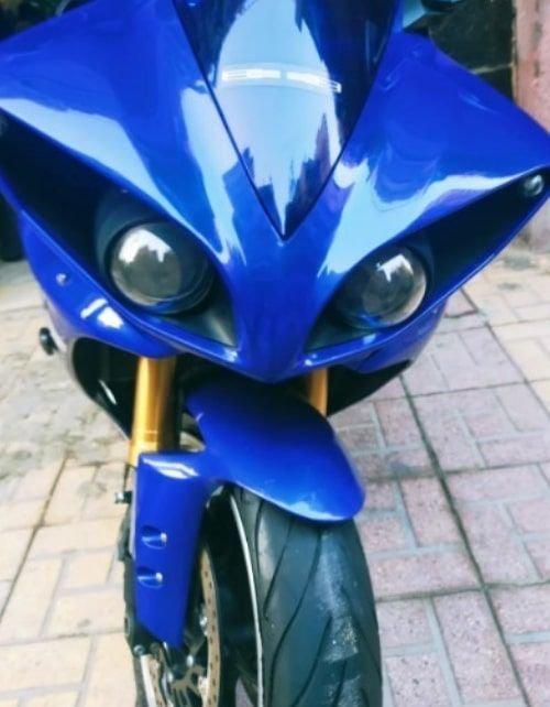 موتوسيكل يامها YZF-R1 2011 مستعمل، 998 سي سي، لون أزرق