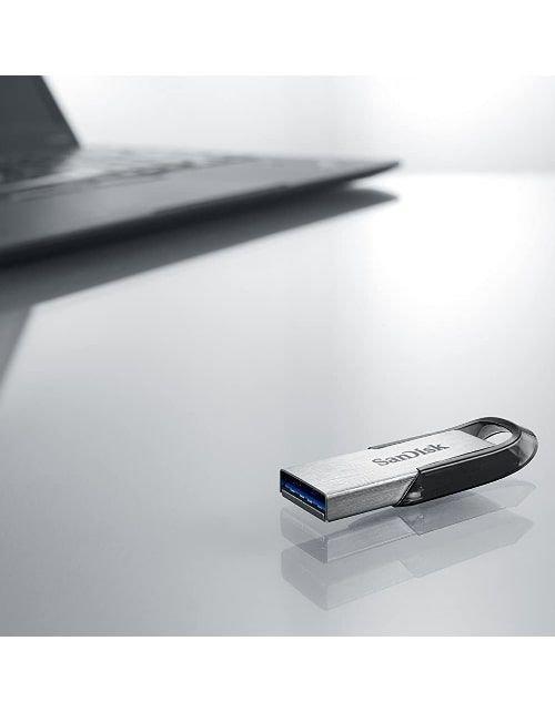 SanDisk Flash Memory Ultra Flair, 128GB, USB 3.0, Silver