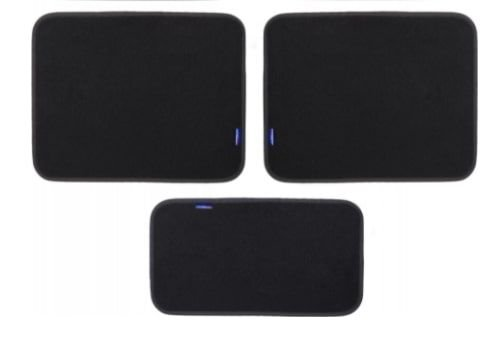 Sparco Car Mats Set, 5 Pieces, Black and Red