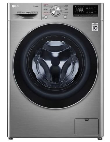 LG Automatic Washing Machine, 10.5 kg, Front Door, 1400 RPM, Smart, Stainless Steel Color