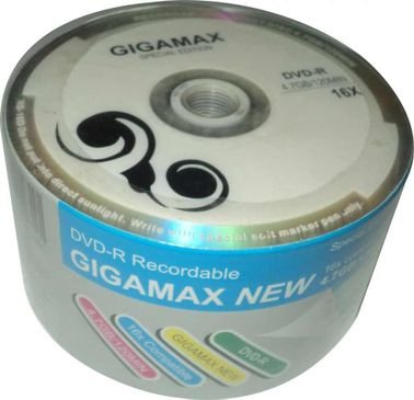 Gigamax DVD-R Disks, 50 Pcs, 4.7 GB Capacity