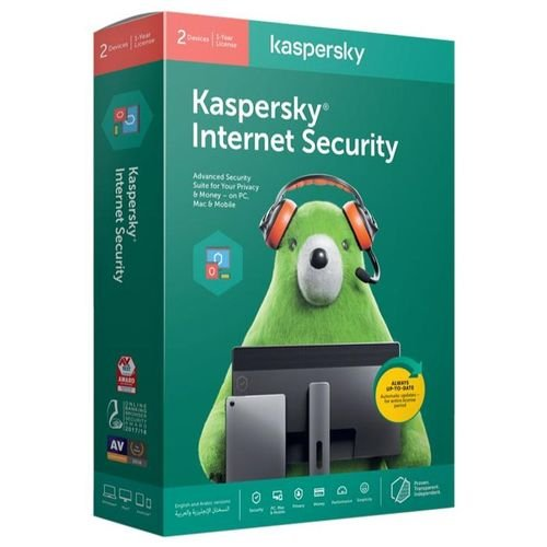 انتي فايروس كاسبر سكاي انترنت سيكيوريتي، قرص CD، مستخدمين عدد 2، سنة واحدة