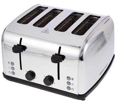 Black and Decker Pop Up Toaster, 4 Slices, 1800 Watt, Silver