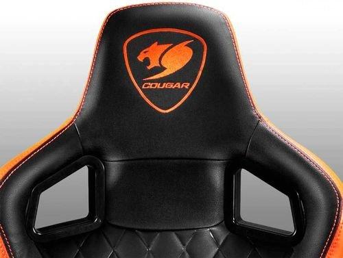 كرسي ألعاب كوجار Armor S، قابلة للتعديل، لون أسود وبرتقالي
