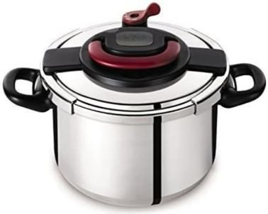 Tefal Clipso Pressure Cooker, 10 Liter, Stainless Steel, Silver