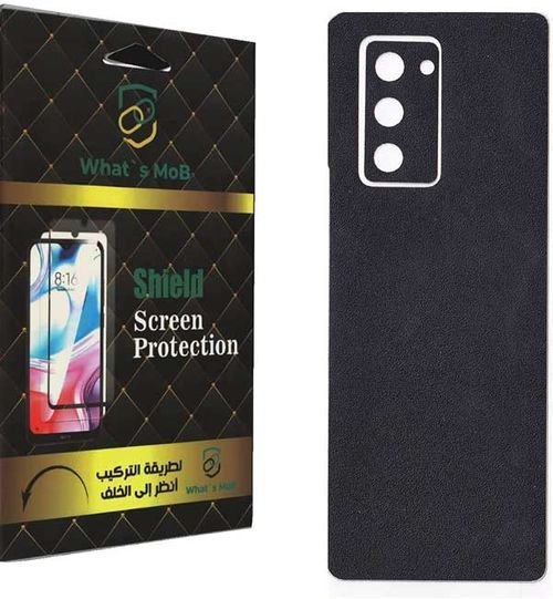 What's MoB Back Skin For Galaxy Z Fold 2, Leather Texture, Black Color