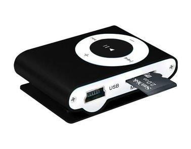 Mini MP3 Player, With 2GB MicroSD, Black Color