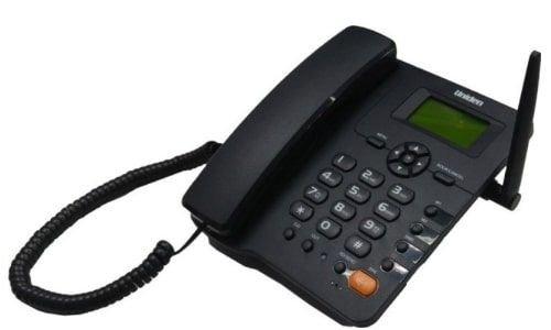 هاتف سلكي أرضي يونيدن، يعمل على الشبكة الخلوية الجيل الثاني، لون أسود